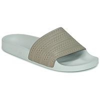 Skor Flipflops adidas Originals ADILETTE Beige / Grön