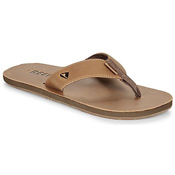 Skor Herr Flip-flops Reef LEATHER SMOOTHY Brons / Brun