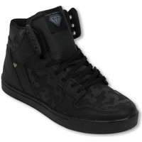 Skor Herr Höga sneakers Cash Money Heren Schoenen Heren Sneaker High Army Full Black Svart
