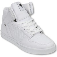 Skor Herr Höga sneakers Cash Money Fina Skor Sneakers High Jailor White Matt Vit
