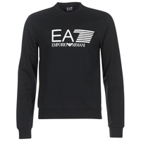 textil Herr Sweatshirts Emporio Armani EA7 TRAIN VISIBILITY Svart