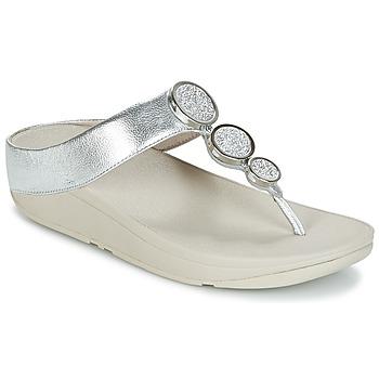 Skor Dam Flip-flops FitFlop HALO TOE THONG SANDALS Silver