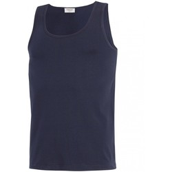 textil Herr Linnen / Ärmlösa T-shirts Impetus GO30024 039 Blå