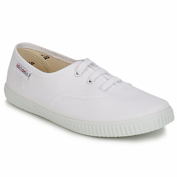 Skor Barn Sneakers Victoria INGLESA LONA KID Vit