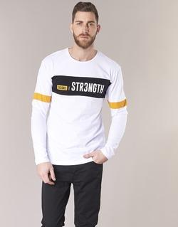 textil Herr T-shirts Jack & Jones JCOACE-TEE-LS-CREW-NECK Vit