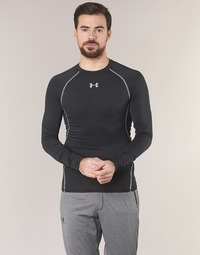 textil Herr Långärmade T-shirts Under Armour LS COMPRESSION Svart