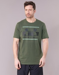 textil Herr T-shirts Under Armour BLOCKED SPORTSTYLE LOGO Kaki