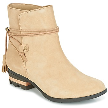 Skor Dam Boots Sorel Farah Short Beige