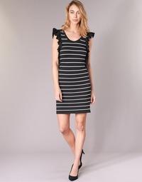 textil Dam Korta klänningar Vero Moda VMABHY Svart / Vit