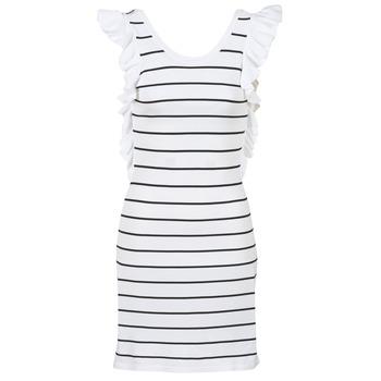 textil Dam Korta klänningar Vero Moda VMABHY Vit / Svart