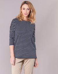 textil Dam Sweatshirts Vero Moda VMULA Marin / Vit