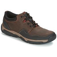 Skor Herr Sneakers Clarks WALBECK EDGE Brun / Leather