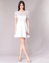 textil Dam Korta klänningar Betty London INLOVE Vit