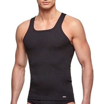 textil Herr Linnen / Ärmlösa T-shirts Impetus 1334001 020 Svart