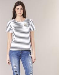 textil Dam T-shirts Betty London INNAMOU Vit / Marin