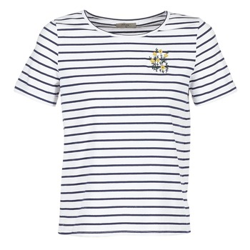 textil Dam T-shirts Betty London INNAMOU Vit / Marin