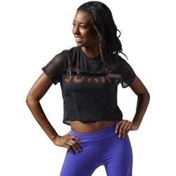 textil Dam T-shirts Reebok Sport Cardio Tee Svarta