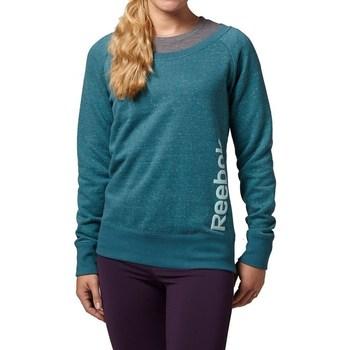 textil Dam Sweatshirts Reebok Sport Sel Melange Crew Gröna