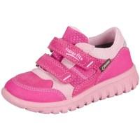 Skor Barn Sneakers Superfit Sport Mini Pink Kombi Velour Tecno Textil Rosa