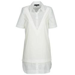 textil Dam Korta klänningar American Retro CHARLOTTE Vit