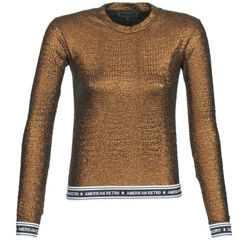 textil Dam Långärmade T-shirts American Retro ALLAN  bronsfärgad