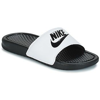 Skor Herr Flipflops Nike BENASSI JUST DO IT Vit / Svart