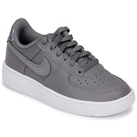 Skor Flickor Sneakers Nike AIR FORCE 1 PRE-SCHOOL Grå / Silver