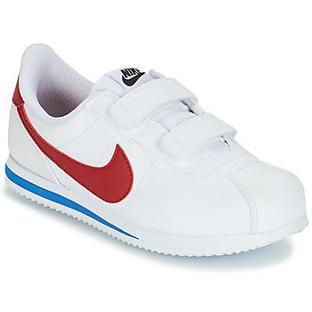 Skor Pojkar Sneakers Nike CORTEZ BASIC PRE-SCHOOL Vit / Blå / Röd