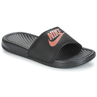Skor Dam Flipflops Nike BENASSI JUST DO IT W Svart / Guldfärgad