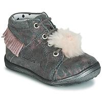 Skor Flickor Höga sneakers Catimini PEPITA GrÅ marmor / Rosa