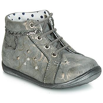 Skor Flickor Höga sneakers Catimini FANETTE GrÅ marmor / Guldfärgad