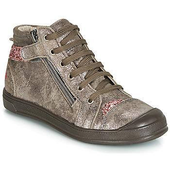 Skor Flickor Höga sneakers GBB DESTINY Mullvadsfärgad / Rosa