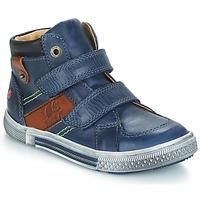 Skor Pojk Boots GBB RENDALL Blå / Brun