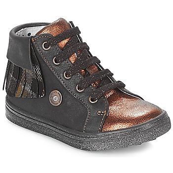 Skor Flickor Höga sneakers Catimini LOULOU Svart / Mässingsfärg