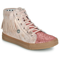 Skor Flickor Höga sneakers Catimini LOULOU Rosa / Puder-ljus
