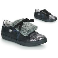 Skor Flickor Sneakers Catimini MARGOTTE Svart / Silver