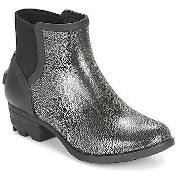Skor Dam Boots Sorel JANEY CHELSEA Svart / Silverfärgad