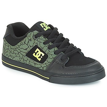 Skor Barn Sneakers DC Shoes PURE SE B SHOE BK9 Svart / Grön