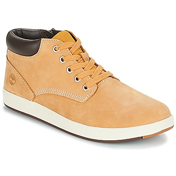 Skor Barn Höga sneakers Timberland Davis Square Leather Chk Brun / Vetefärgad