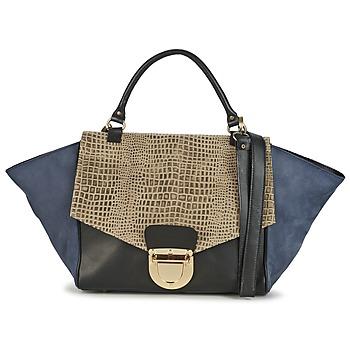 Väskor Dam Handväskor med kort rem Su-Shi MILA CROCO Blå / Svart