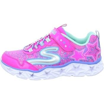 Skor Flickor Sneakers Skechers Galaxy Lights Kinder Rosa