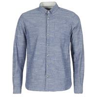 textil Herr Långärmade skjortor Casual Attitude IPODRUM Blå
