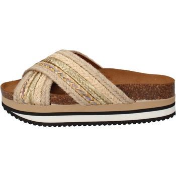 Skor Dam Flipflops 5 Pro Ject sandali beige tessuto oro AC586 Beige