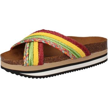 Skor Dam Flipflops 5 Pro Ject sandali verde tessuto giallo AC589 Multicolore