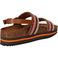 Skor Dam Sandaler 5 Pro Ject sandali rosa tessuto marrone AC592 Rosa