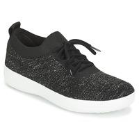 Skor Dam Sneakers FitFlop F SPORTY UBERKNIT SNEAKERS CRYSTAL Svart