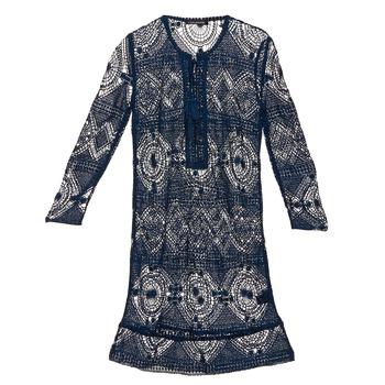 textil Dam Korta klänningar Antik Batik LEANE Marin