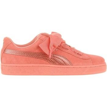 Skor Barn Sneakers Puma Suede Heart Snk JR Rosa
