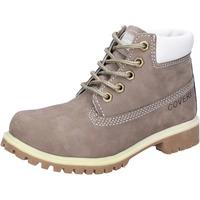 Skor Pojkar Boots Enrico Coveri stivaletti grigio pelle scamosciata AD831 Grigio