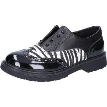 Skor Flickor Sneakers Enrico Coveri classiche nero pelle bianco vernice AD964 Nero